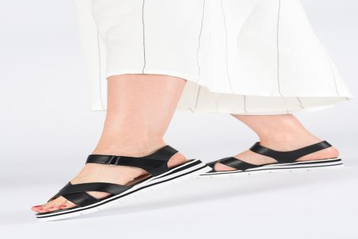 Sandals Caprice Luna Black view from underneath / model view