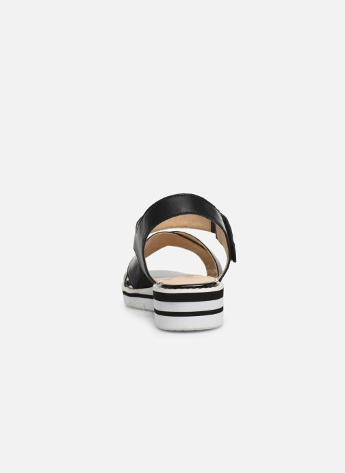 Sandals Caprice Luna Black view from the right