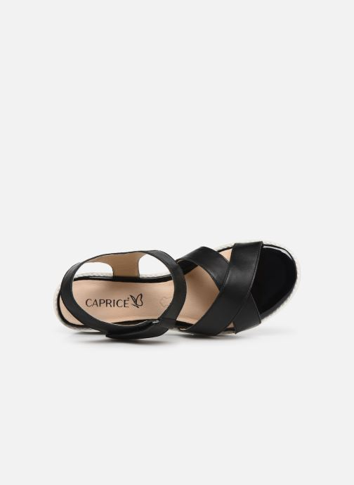 Sandals Caprice Luna Black view from the left