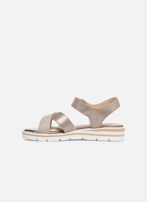 Sandals Caprice Luna Bronze and Gold front view