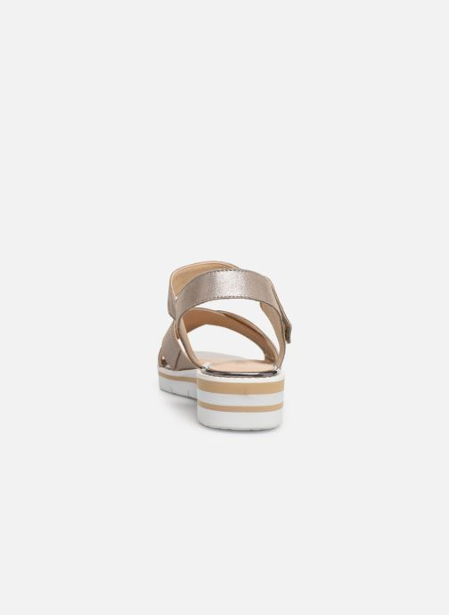 Sandals Caprice Luna Bronze and Gold view from the right
