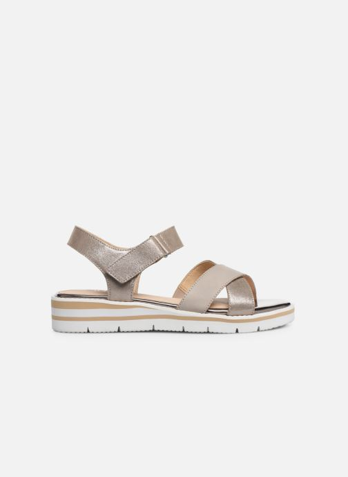 Sandals Caprice Luna Bronze and Gold back view