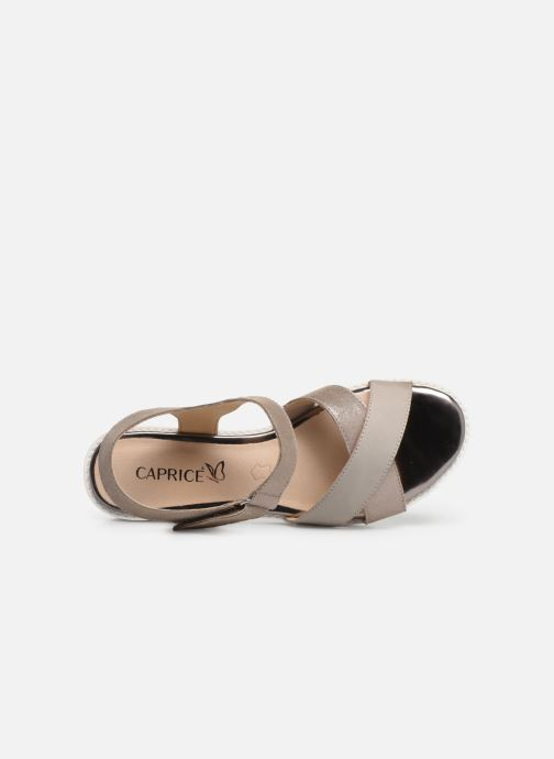 Sandals Caprice Luna Bronze and Gold view from the left