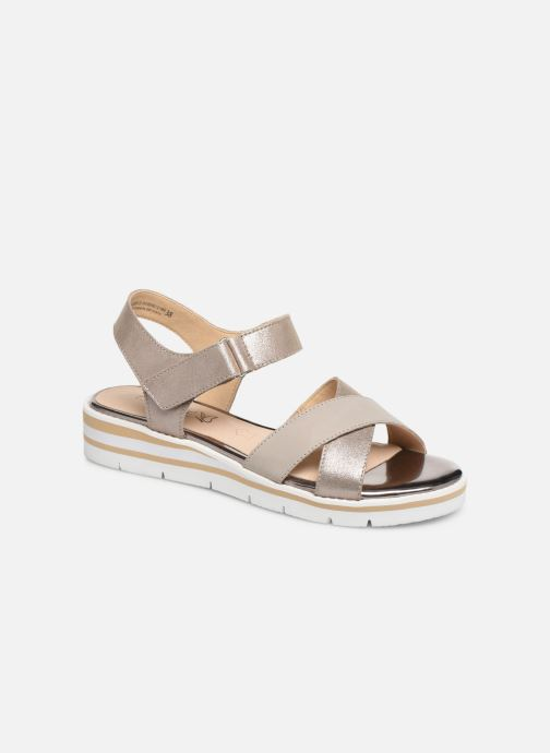 Sandals Caprice Luna Bronze and Gold detailed view/ Pair view