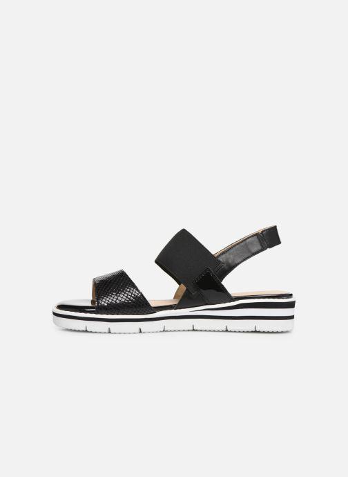 Sandales et nu-pieds Caprice Lisa Noir vue face