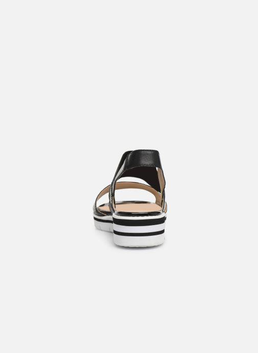 Sandales et nu-pieds Caprice Lisa Noir vue droite