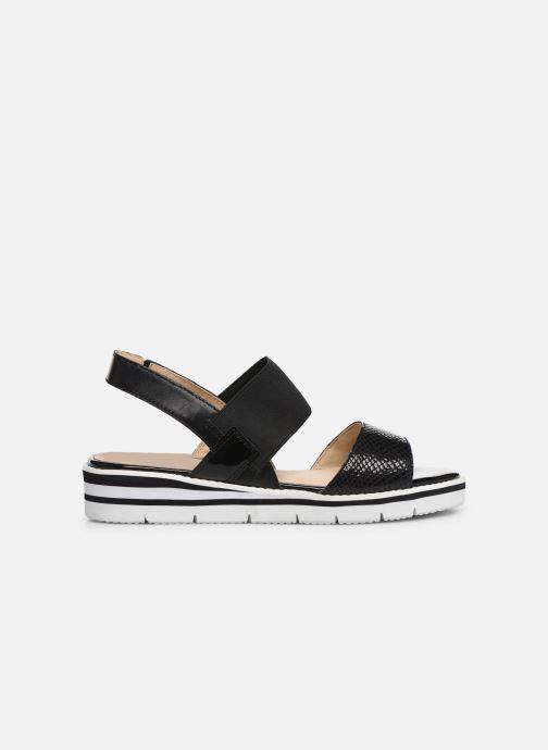 Sandales et nu-pieds Caprice Lisa Noir vue derrière