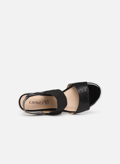 Sandales et nu-pieds Caprice Lisa Noir vue gauche