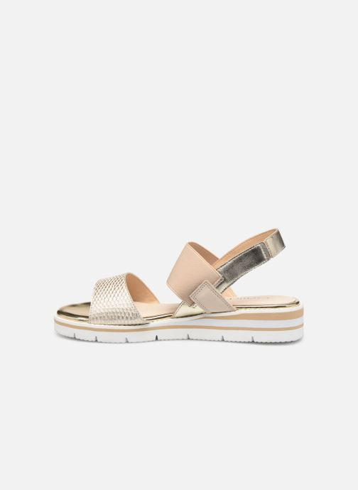 Sandals Caprice Lisa Bronze and Gold front view