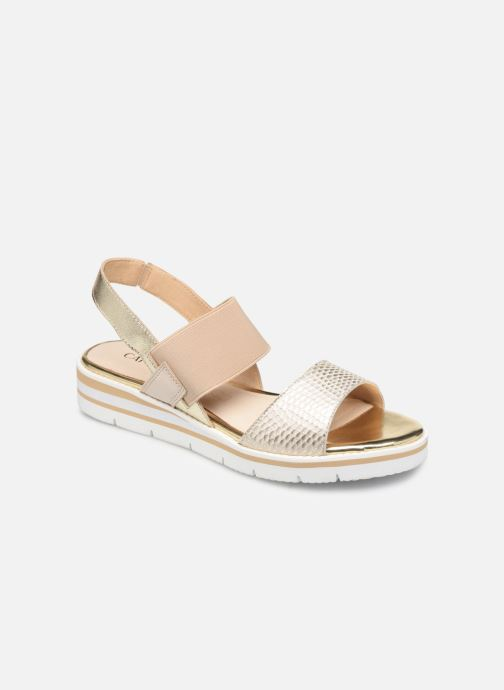 Sandals Caprice Lisa Bronze and Gold detailed view/ Pair view