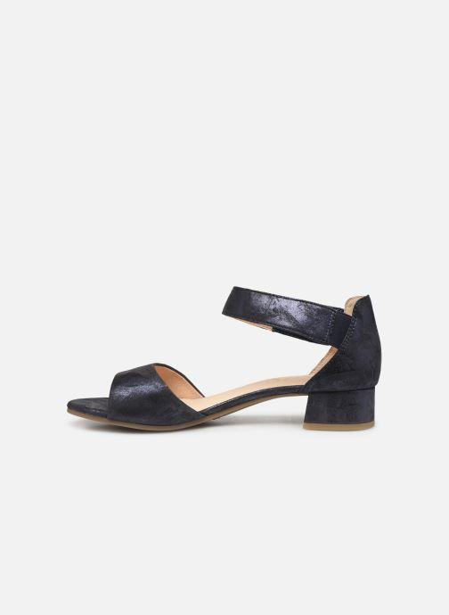 Sandales et nu-pieds Caprice Ginevra Bleu vue face