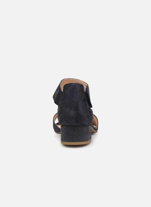 Sandales et nu-pieds Caprice Ginevra Bleu vue droite