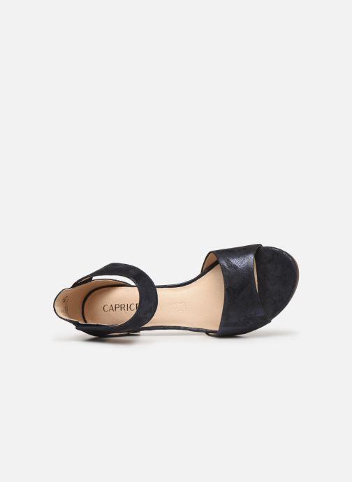 Sandales et nu-pieds Caprice Ginevra Bleu vue gauche