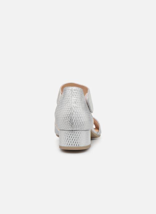 Sandales et nu-pieds Caprice Ginevra Argent vue droite