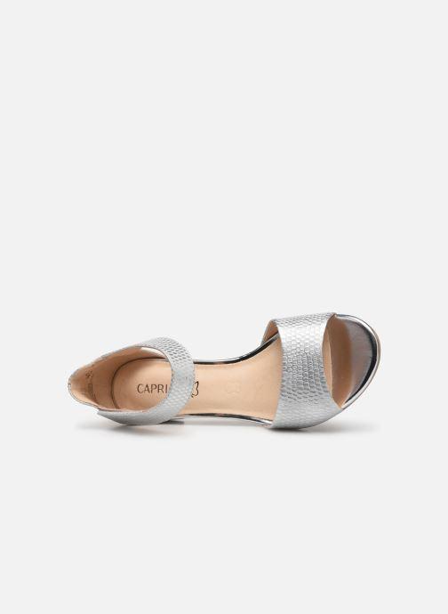 Sandales et nu-pieds Caprice Ginevra Argent vue gauche