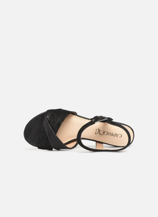 Sandals Caprice Cacilie Black view from the left