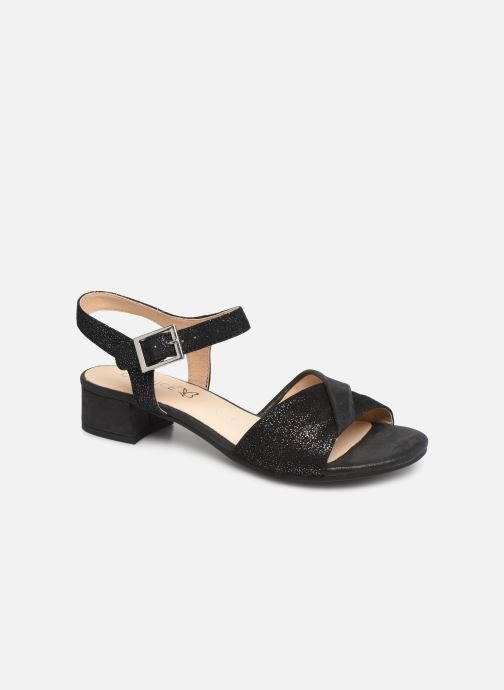 Sandals Caprice Cacilie Black detailed view/ Pair view