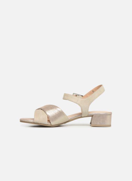 Sandales et nu-pieds Caprice Cacilie Beige vue face