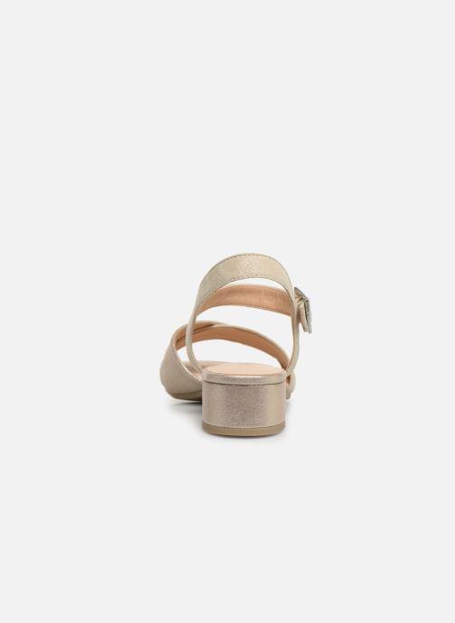 Sandales et nu-pieds Caprice Cacilie Beige vue droite