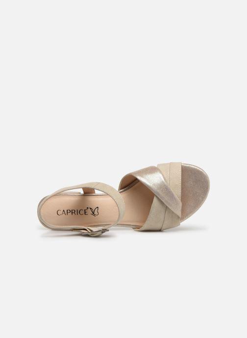 Sandales et nu-pieds Caprice Cacilie Beige vue gauche