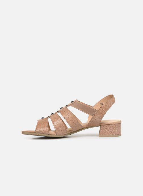 Sandales et nu-pieds Caprice Felicia Beige vue face