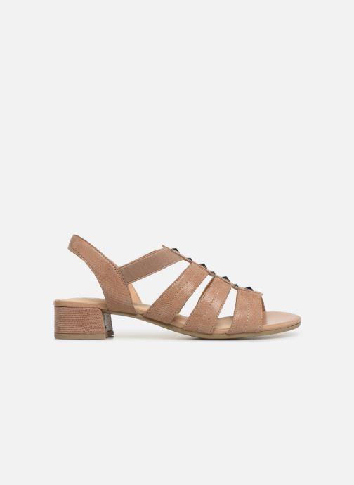 Sandales et nu-pieds Caprice Felicia Beige vue derrière