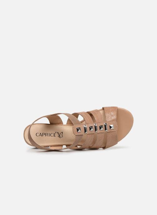 Sandales et nu-pieds Caprice Felicia Beige vue gauche