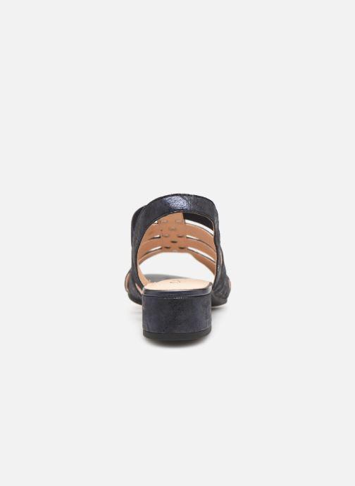 Sandales et nu-pieds Caprice Felicia Bleu vue droite