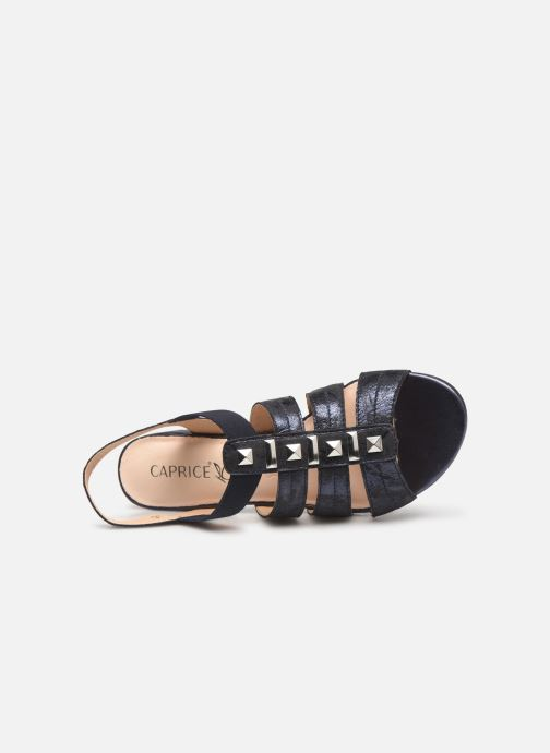 Sandales et nu-pieds Caprice Felicia Bleu vue gauche