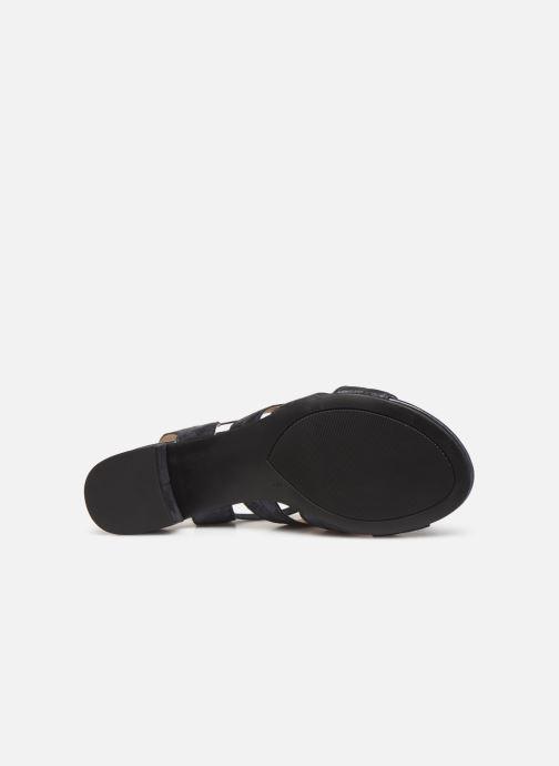 Sandales et nu-pieds Caprice Felicia Bleu vue haut