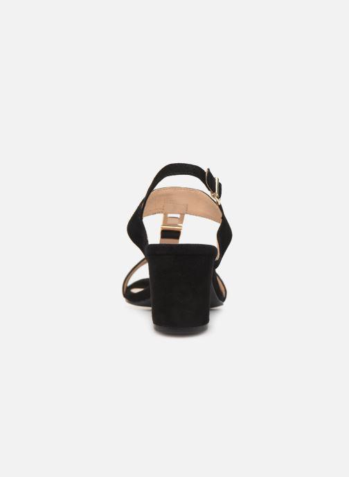 Sandales et nu-pieds Caprice Lotte Noir vue droite