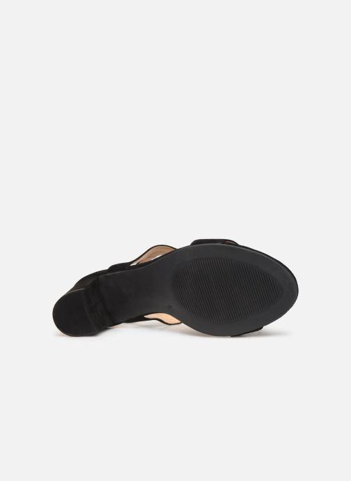 Sandales et nu-pieds Caprice Lotte Noir vue haut