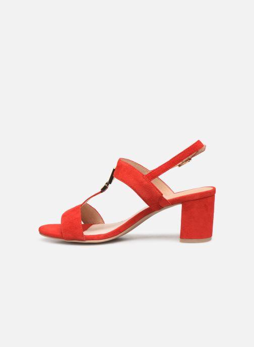 Sandales et nu-pieds Caprice Lotte Rouge vue face