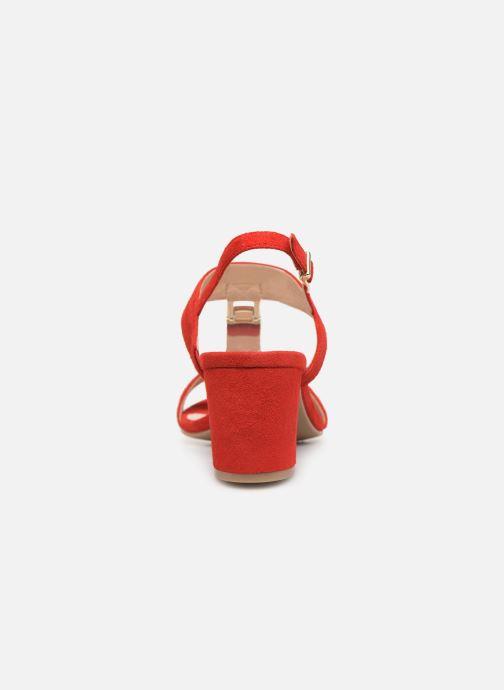 Sandales et nu-pieds Caprice Lotte Rouge vue droite