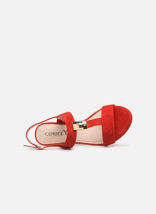 Sandales et nu-pieds Caprice Lotte Rouge vue gauche