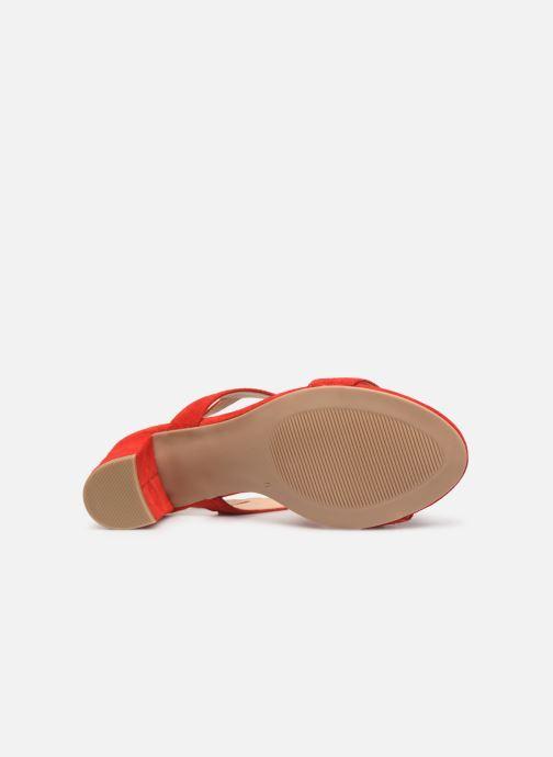 Sandales et nu-pieds Caprice Lotte Rouge vue haut