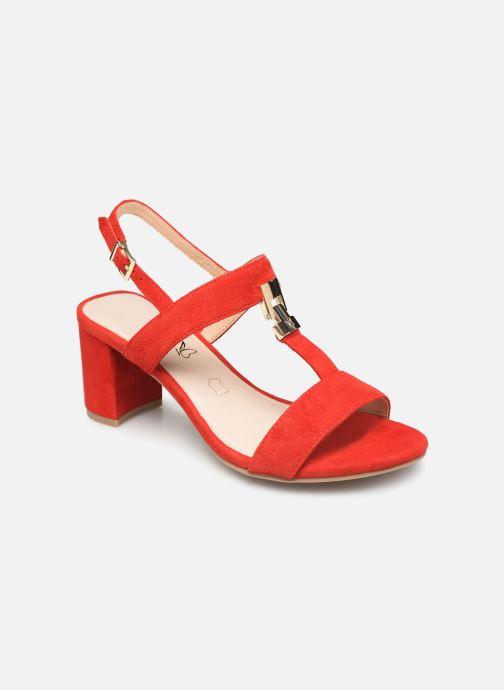 Sandales et nu-pieds Caprice Lotte Rouge vue détail/paire