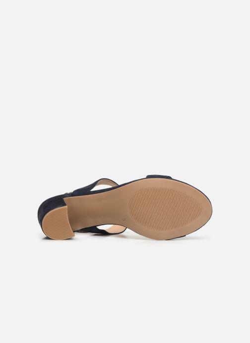 Sandales et nu-pieds Caprice Lotte Bleu vue haut