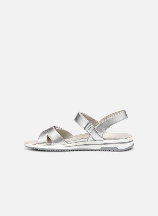 Sandales et nu-pieds Caprice Minna Argent vue face
