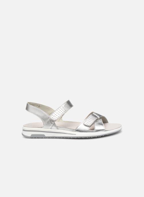 Sandales et nu-pieds Caprice Minna Argent vue derrière