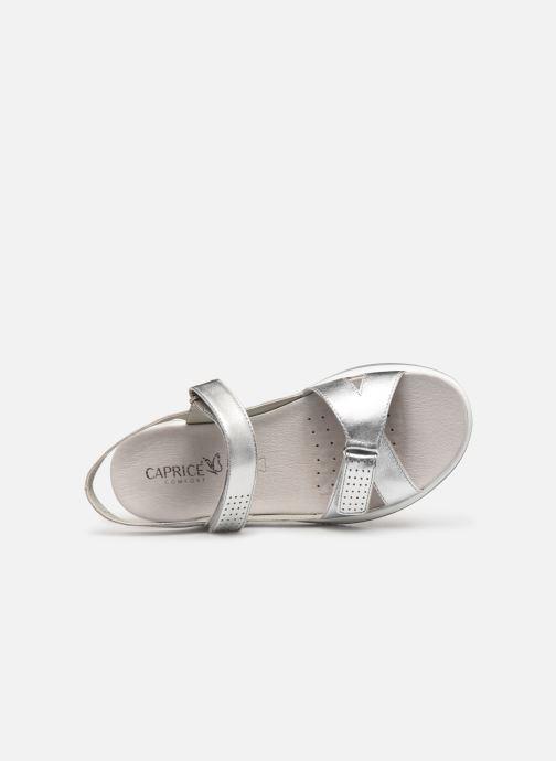 Sandales et nu-pieds Caprice Minna Argent vue gauche