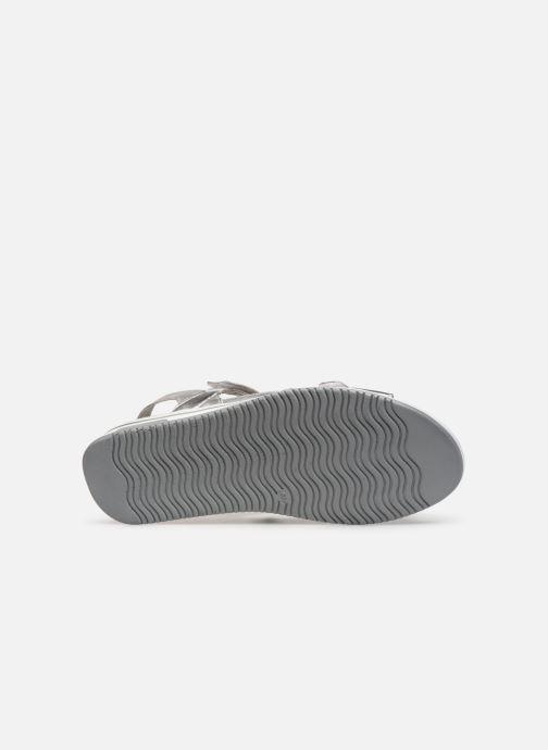 Sandales et nu-pieds Caprice Minna Argent vue haut