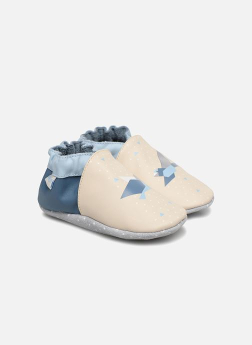 Slippers Robeez Birdy Origami White detailed view/ Pair view