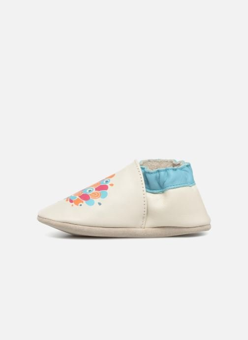 Pantofole Robeez Peacock Bianco immagine frontale
