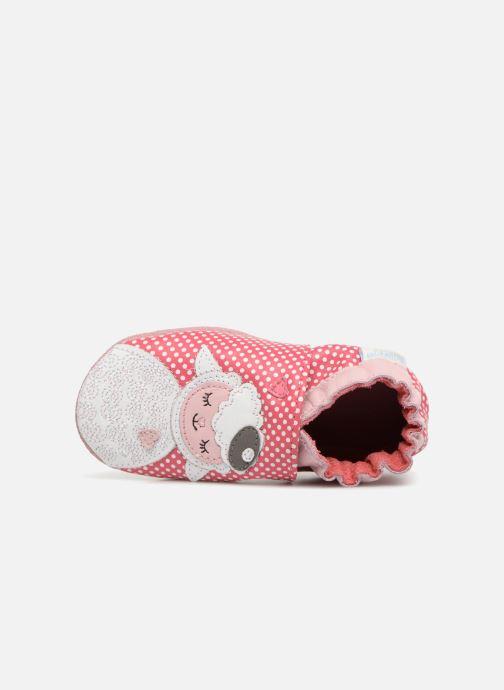 Pantofole Robeez Baby Lamb Rosa immagine sinistra