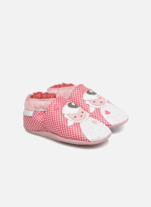 Slippers Robeez Baby Lamb Pink detailed view/ Pair view