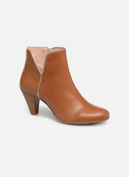 Ankelstøvler Georgia Rose Lafaon Brun detaljeret billede af skoene
