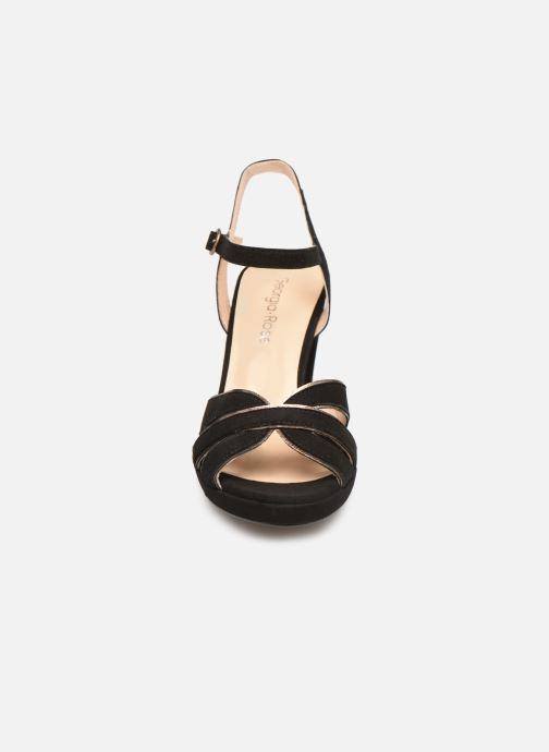 Sandales et nu-pieds Georgia Rose Lapouta Noir vue portées chaussures