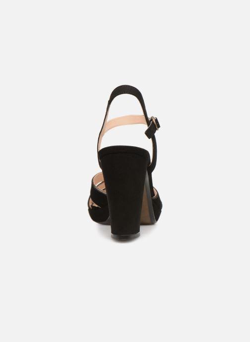 Sandales et nu-pieds Georgia Rose Lapouta Noir vue droite