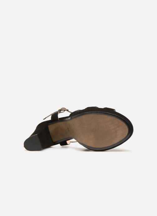 Sandales et nu-pieds Georgia Rose Lapouta Noir vue haut